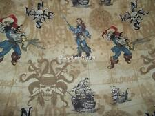 Disney Pirates of the Caribbean Cartoon Character Twin/Single Flat Sheet {Fabric