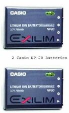 2 Casio Genuine NP-20 NP-20DBA Batteries for EX-Z77 Z60 Z65 Z70 Z75 S770 S880