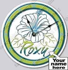 Hibiscus Flower Personalized Customized Nursery Wall Art Clock Teen Room Decor