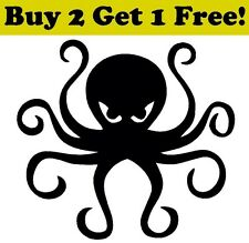 Octopus Vinyl Decal Sticker Car Bumper Window Wall Bath Decor ArtOcean Sea