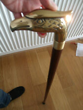 Gadget Walking Stick Cane Eagle Brass Handle With LIGHT 4 Parts Unmounted Cane