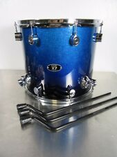 """PDP X7 Series Floor Tom - 16 X 14"""" - Blue To Black Sparkle Fade - Maple Shell"""