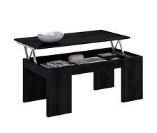Mesa de centro elevable, mesita auxiliar moderna para comedor salon Negro Malla