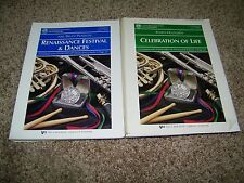 Coductor Orchestra Concert BAnd lot of 2 Music Sheet Books Celebration of Life