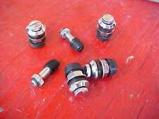 set of 4,flush mount chrome steel wheel/tire valve stems,trick,race rat rod