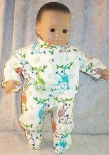 """Doll Clothes American Girl 15"""" Bitty Baby Twin Footed Pajamas Monkey Bananas NEW"""