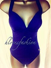 ✨��SUNSEEKER Blue Swimsuit Swimming Costume RARE B/C Cup✨NEW+TAGS UK 12 FAST����