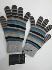 "Paul Smith ""GREY MULTISTRIPE"" GLOVES - MADE IN THE BRITISH ISLES - One Size"