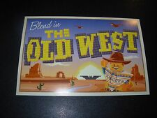 LEGO THE OLD WEST Art 4X6 Postcard like poster print Steve Thomas