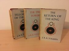 Lord of the Rings Tolkien, First edition 1954/1955 ORINGAL DUSTJACKETS RARE!!!
