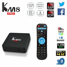 KM8 17.0 S912 Octa Core 2G/16G Android 6.0 Smart TV Box HDMI 4K 1000M Quality