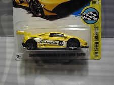 2017 HOT WHEELS ''HW SPEED GRAPHICS'' #107 = LAMBORGHINI HURACAN LP = YELLOW us
