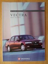 VAUXHALL Vectra Range 1996 1997 UK Market prestige sales brochure -  Envoy SRi