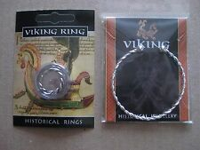 Viking Twisted Pewter Ring And Silver Plated Bracelet