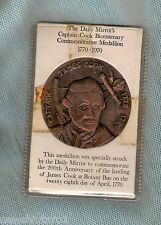 #D160. 1970 DALY MIRROR NEWSPAPER MEDAL ON CARD