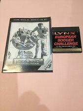 European Soccer Challenge Lynx Atari Collectors!! Rare New No Box with Manual