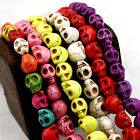 Wholesale Howlite Turquoise Gemstone Skull Loose Beads Jewellery Making 9x7.5MM