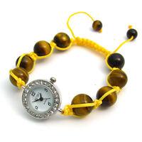 ECHO' Shamballa Style Watch and Bracelet Set Beautiful Tigers Eye  no.5