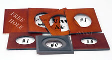 """1 LENS BOARD 76 x 76mm for ANSCO 3.25x 4.25"""" Hard MDF Birch, undrilled&free hole"""