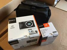 New Sony Alpha ILCE6000L a6000 Camera w 18-55mm Kit Lens Black + Case  + 16GB