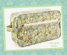 """CHIC VINTAGE FLORAL STYLE LARGE COSMETIC/WASH BAG - WILLIAM MORRIS """"GOLDEN LILY"""""""