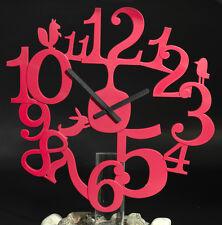 Wanduhr Uhr Pi:p batteriebetrieben in solid himbeer rot von Koziol - Kunststoff