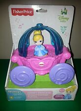 Disney Baby Fisher Price Pull Toy Princess Cinderella Musical Carriage