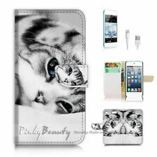 iPod Touch 6 iTouch 6 Flip Wallet Case Cover! P2142 Pussy Cat
