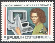 Austria 1987 Workers/Industry/Computers/People/Trade/Commerce 1v (n32316)