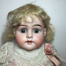 "ANTIQUE GERMAN BISQUE DOLL SCHOENAU & HOFFMEISTER # 1000 KID BODY 21"" Tall"