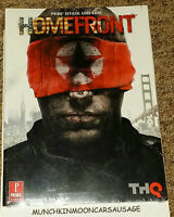 Homefront Official Prima Strategy Guide New Sealed PS3 XBox 360 PC