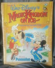 Vintage Disney Magic Kingdom on Ice Program Pinnochio 1987 Mickey Mouse Skating