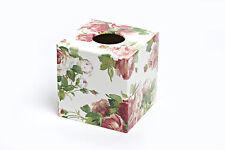 Mavis Rose Tissue Box Cover wooden handmade in UK