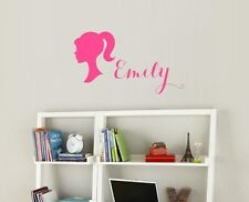 barbie custom name wall decal sticker nursery vinyl wall kids playroom removable