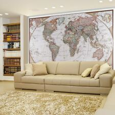 Antique Political Mollweide Map Projection of the Earth- Wall Mural - 66x96