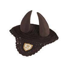 Kingsland Ever Fly Veil / Showjumping Ears - Green Wren (Brown) size Full