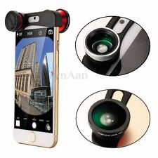 3in1 Fish Eye Fisheye +Wide Angle+Macro Clip Camera Selife Lens for iPhone 6S 6