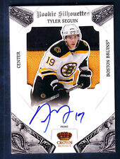 TYLER SEGUIN 10/11 CROWN ROYALE ROOKIE SILHOUETTES PRIME 2C JERSEY RC AUTO 92/99
