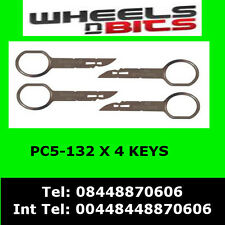 PC5-132 VOLKSWAGEN VW SHARAN 2005  RADIO REMOVAL RELEASE EXTRACTION KEYS X 4