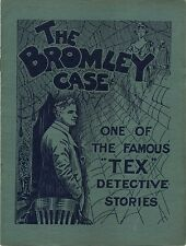BROMLEY CASE 1920 Glen White TEX Detective DAVID WALL Mystery UK BROCHURE