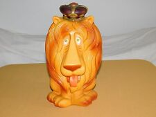"VINTAGE 1971 PLAY PAL 13"" HIGH LION with CROWN PLASTIC PIGGY BANK"