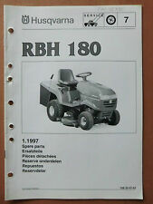 HUSQVARNA Rasentraktor RBH 180 Ersatzteilliste parts list Ausgabe 1997