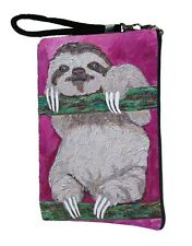 Sloth Pouch with detachable strap - From my orginal Painting, Leisurely Life