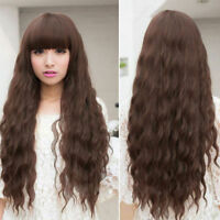 New Women Ladies Sexy Long Full Curly Wavy Hair Wigs Cosplay Costume 4 Colors