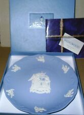 Wedgwood Jasperware Blue Christmas 1996 Annunciation Plate Boxed