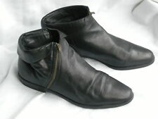 Carvela Black Leather Ankle Boots with side zips - size UK 4