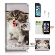 iPhone 7 (4.7') Flip Wallet Case Cover P2202 Pussy Cat