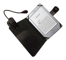 Black Leather Case Cover Wallet for Amazon Kindle 4 4th Wifi With LED Clip Light