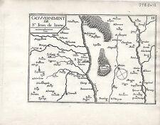 Antico mappe, gouvernement DE ST. Jean DE TURGOT