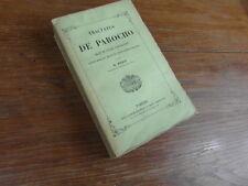 D. BOUIX / juris canonici TRACTATUS DE PAROCHO Lecoffre Paris 1855
